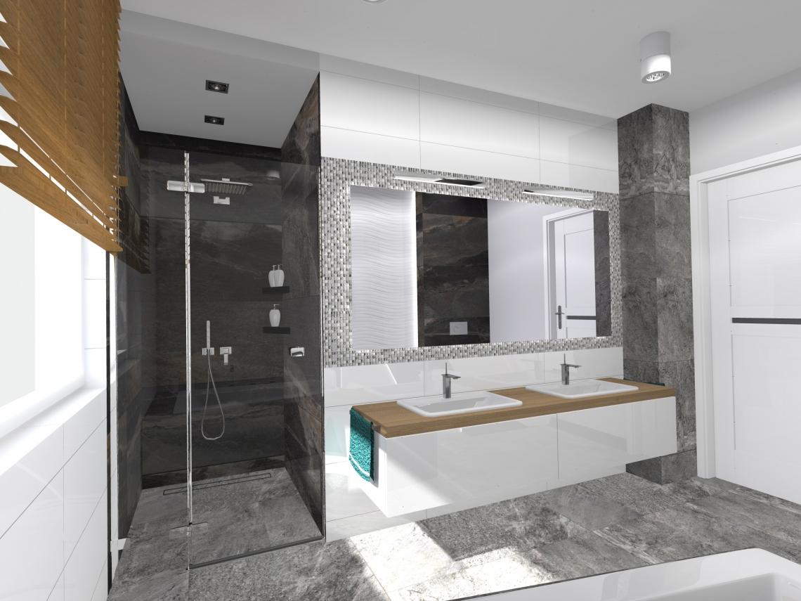 Dorota Bykowska. Projekt wnętrza łazienki - architekt Warszawa