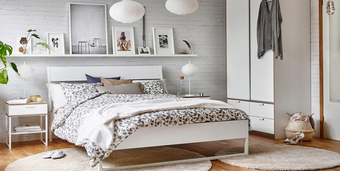 Źródło: IKEA. Kolekcja Trysil. Nowoczesna, skandynawska sypialnia