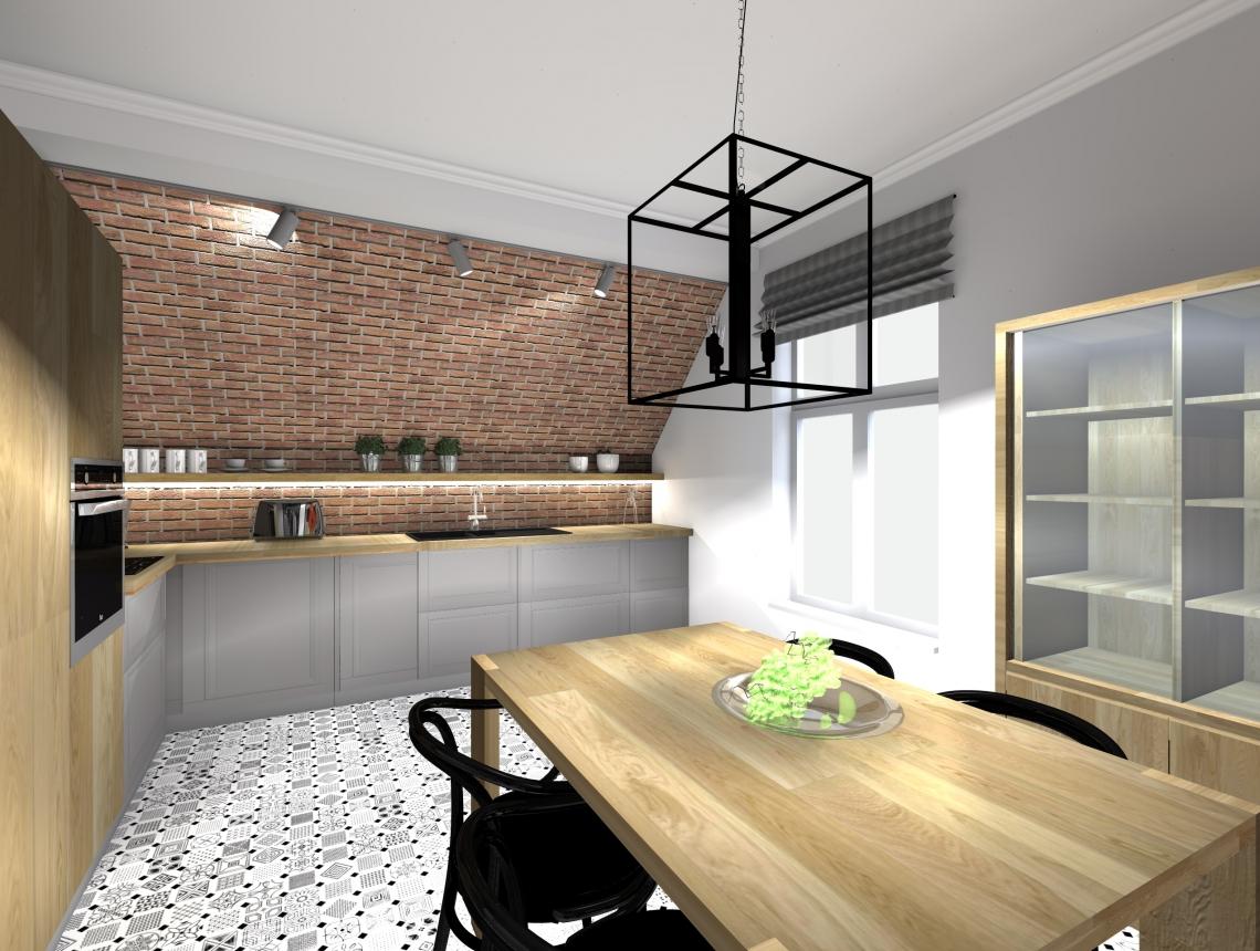 Dorota Bykowska. Projekt wnętrza kuchni - architekt Warszawa