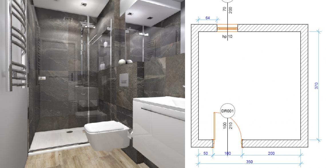 Projekt małej łazienki Bydgoszcz