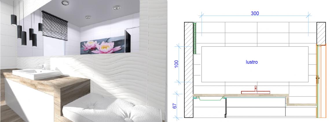 Siedzisko w łazience - aranżacja wnętrza