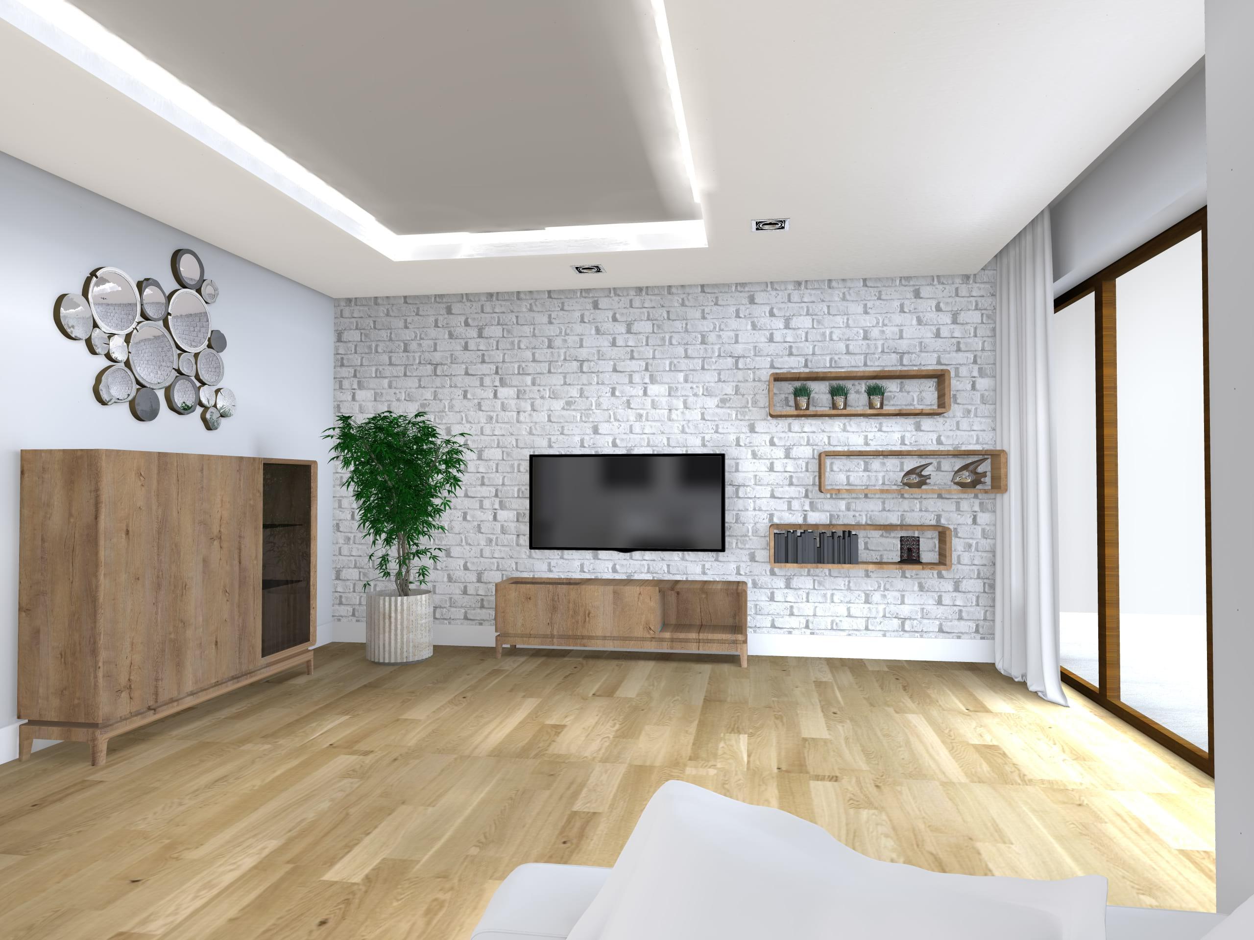 Poważnie Projekty i aranżacje salonu – architekt wnętrz Dorota Bykowska AI24